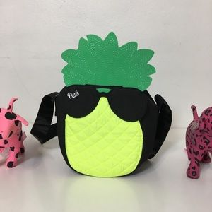 NEW PINK VS LOGO PINEAPPLE COOLER TOTE